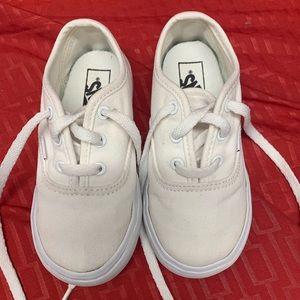 White Toddler Vans